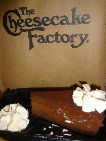 The Cheesecake Factory: Godiva chocolate cheesecake