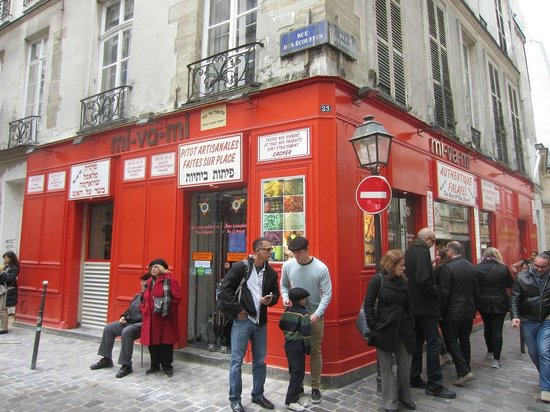 Le Marais: restaurant typique rue des rosiers