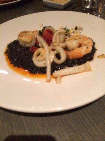 Filini : Squid with black ink risotto - delicious!