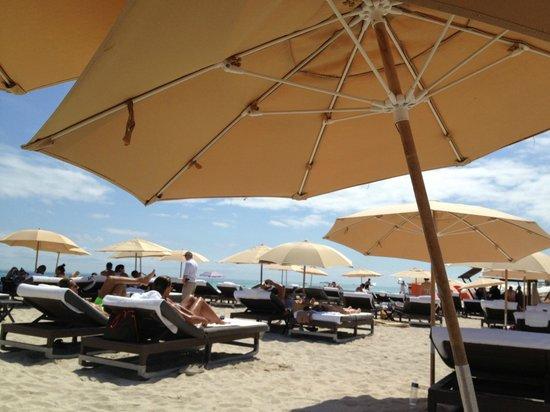 The Setai beach area.