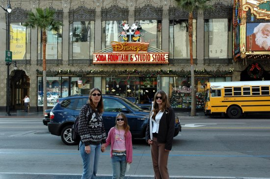 Disney Studio Store & Ghirardelli Soda Fountain: Me, my mum and my sister outside of the Disney Soda Fountain And Studio Store.