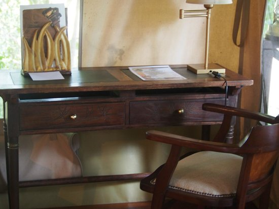 Mara Intrepids Luxury Tented Camp: Desk in our tent