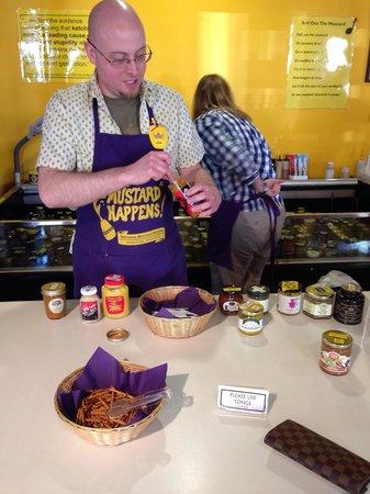 "National Mustard Museum: Jeremy my ""mustard sommelier"""