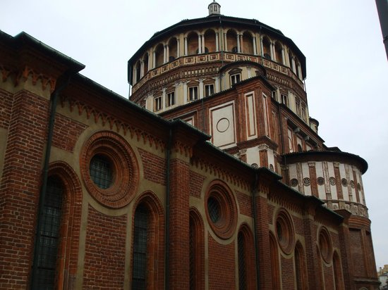 La Cène (Léonard de Vinci) : Side view of the church