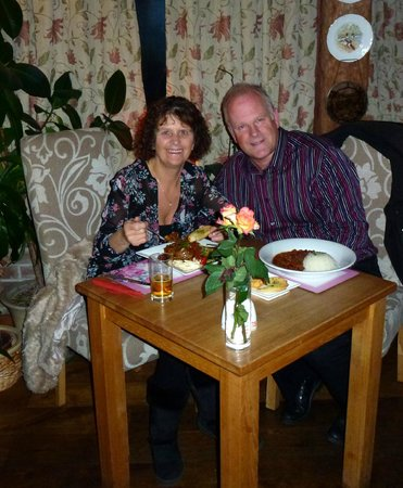 The Inglenook Hotel & Restaurant: Us having a meal