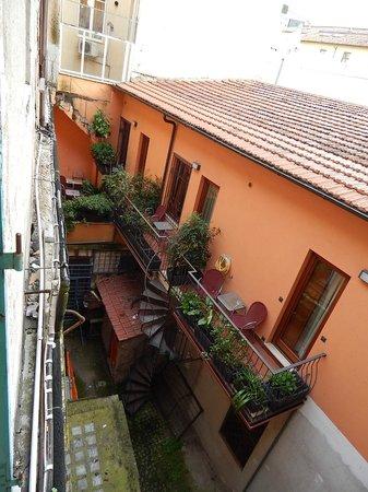 Hotel Impero: вид из окна