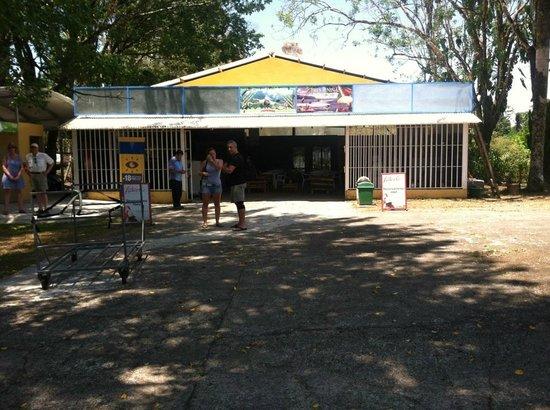 "Las Cascadas The Falls: The ""busy"" Quepos airport terminal"