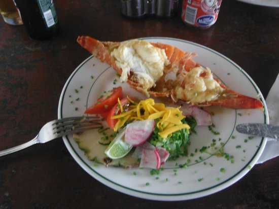 Sol Cayo Guillermo: lobster at a local bar
