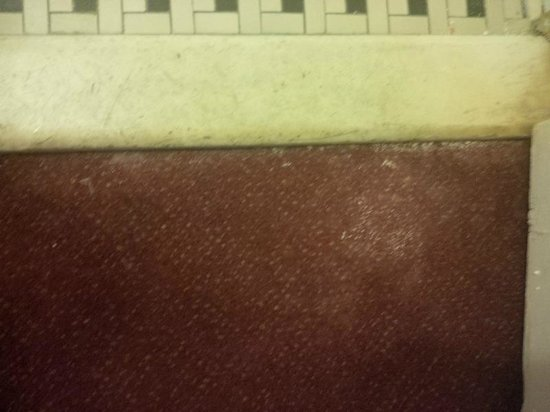 Hotel Harrington : Dirty, torn-out carpet