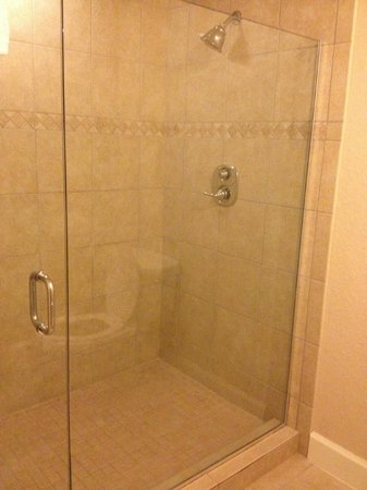 Westgate Town Center Resort & Spa: Huge shower!  2 shower heads