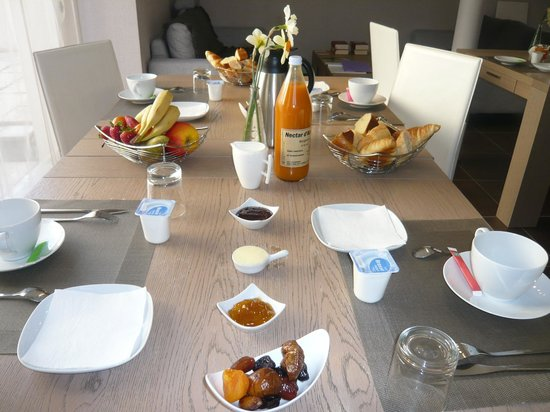 Chambres d'Hotes Pierre Trichet : petit déjeuner
