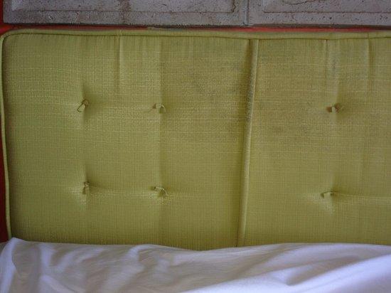 Hotel Tamarindo Diria: worn out sad headboard