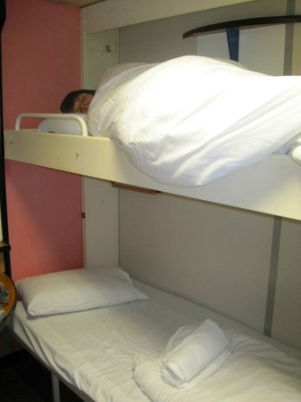 Stena Line Limited - Day Trips : Son fell asleep within minutes. Small but clean cabin, we asked for a cheap one.