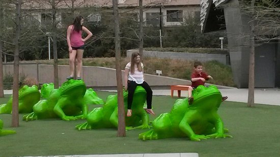 Perot Museum of Nature and Science: Leap frog, anyone.