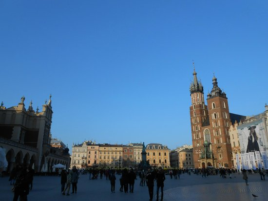 Benefis: Part of the main square in Krakow