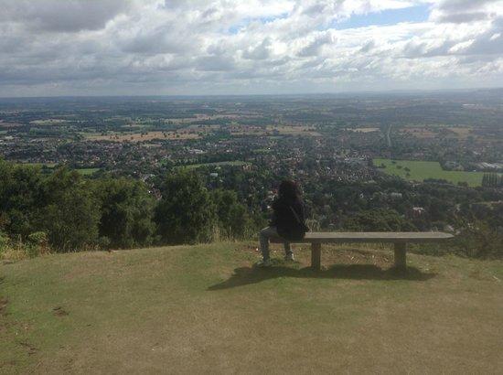 Malvern Hills: Taking a break midway up