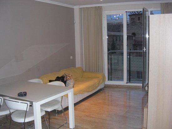 Valencia Central Apartments: salon comedor balcon