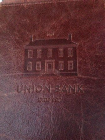Union Bank Wine Bar & Dining: cover of the menu