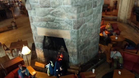 Timberline Lodge: Fireplace