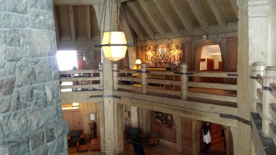 Timberline Lodge: View from inside