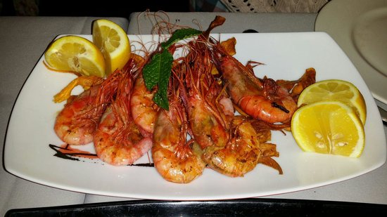 Restaurante A' Peregrina : Gambas rojas frescas!!