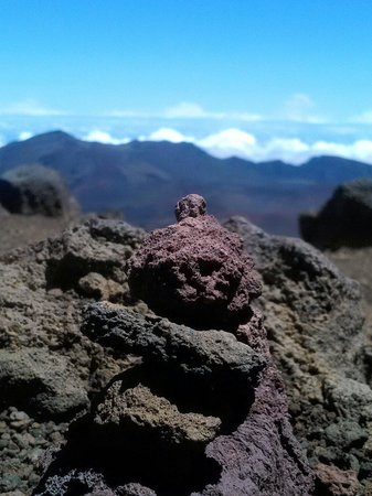 Haleakala National Park: Our pile of rocks for luck