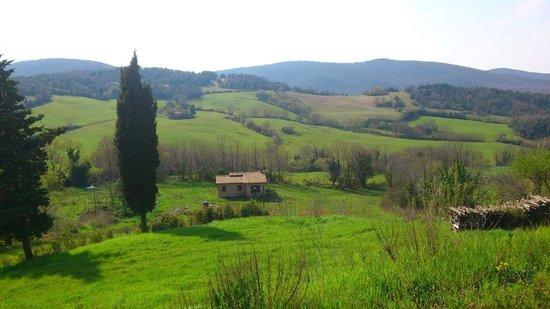 L'Osteria del Ghiotto: splendida valle davanti all'osteria