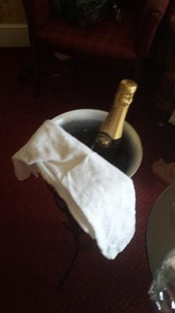 The Gretna Chase Hotel: a little extra from the hotel to us. A lovely bottle of champagne