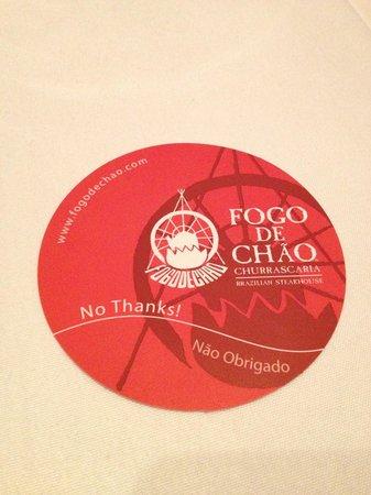 Fogo de Chao Brazilian Steakhouse : I'm ok