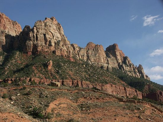 Zion Canyon Bed and Breakfast: View from the Narrows Room deck.