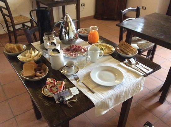 Locanda Incantata: Breakfast for One! - (You must try the pear and cheese slices drizzled with honey )