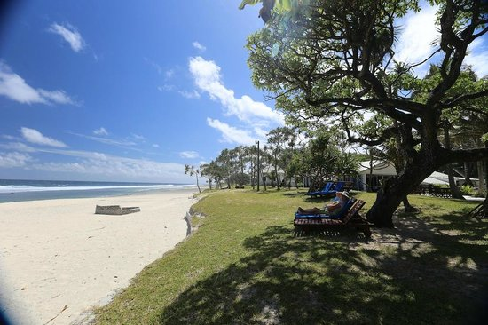 Tamanu on the Beach: A G and T before lunch and coffee afterwards in the shade