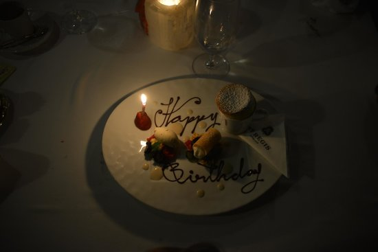 The St. Regis Punta Mita Resort : Birthday dessert (about the 4th the brought us)