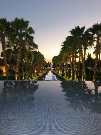 The St. Regis Punta Mita Resort : View from main lobby to adult pool