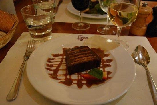 L'assiette du marche : Terrine au chocolat et spéculoss