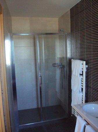 Hotel Santamaria : Detalle del baño  habitación doble grande.