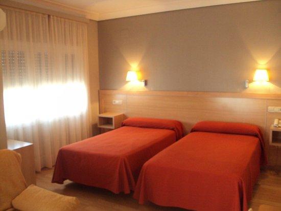 Hotel Santamaria : Detalle de habitación doble grande.