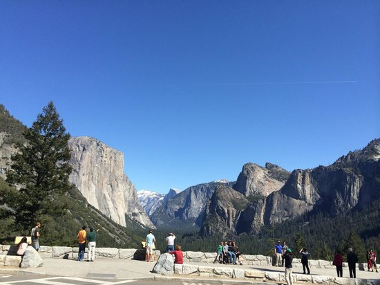 Tunnel view from the parking lot