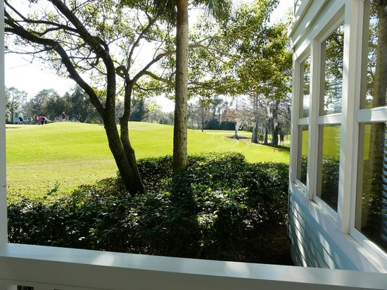 Disney's Old Key West Resort: View from patio to golf course