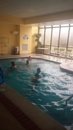 La Quinta Inn & Suites Newark - Elkton: Four or my 5 boys in the pool