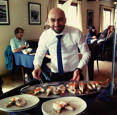 Tartarun Fish Restaurant: th great dentex served by the maestro