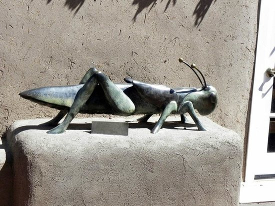 Rancho de Chimayo Restaurante: Courtyard Bronze