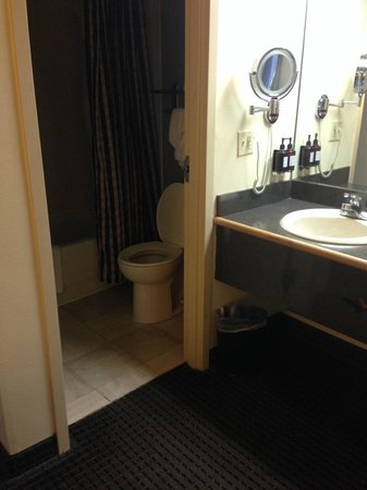 Holiday Inn Express & Suites: Hotel Sierra Bathroom was super tiny