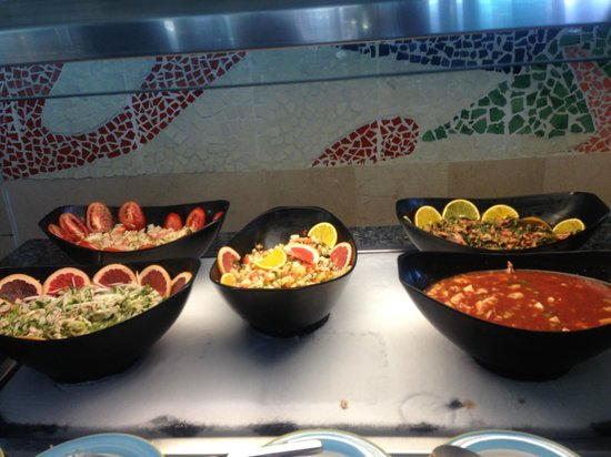 Park Royal Ixtapa: The ceviche options at lunch