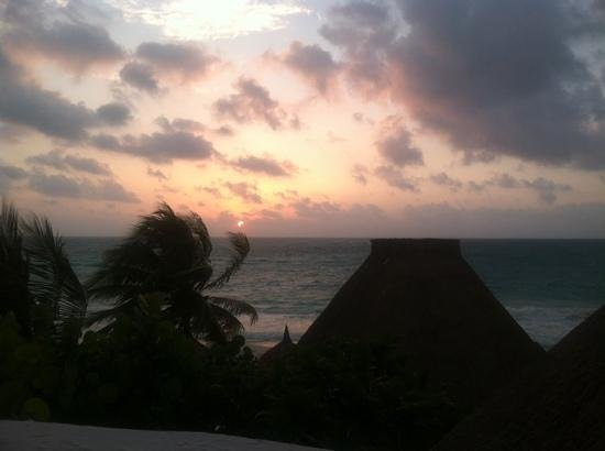 Belmond Maroma Resort & Spa: the sunrise from our room