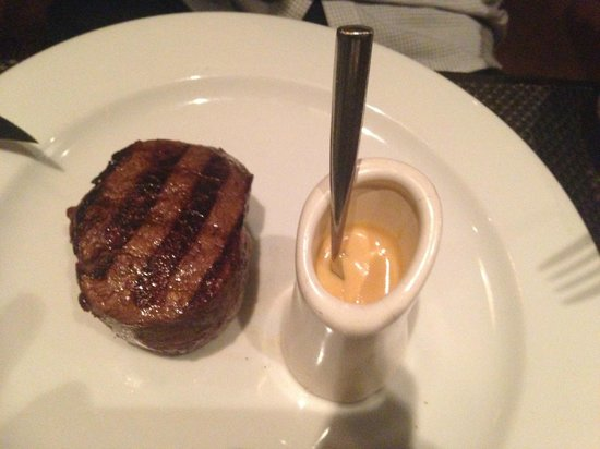 The Grill by Sean Connolly: steak with miso hollandaise