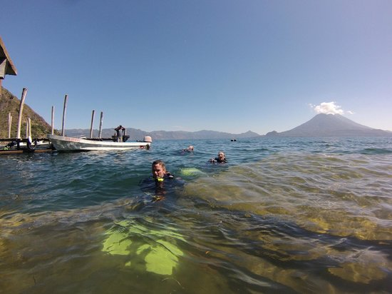 Ati Divers: View of volcano
