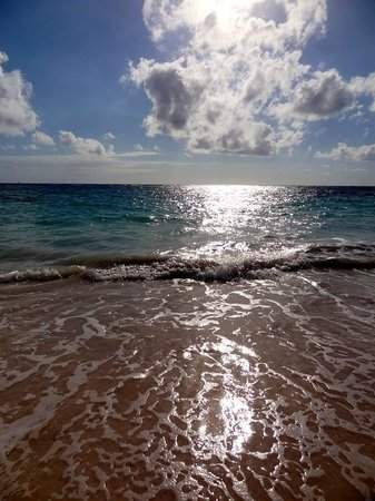 Iberostar Grand Hotel Bavaro: Crystal clear blue water and super soft sandy beach