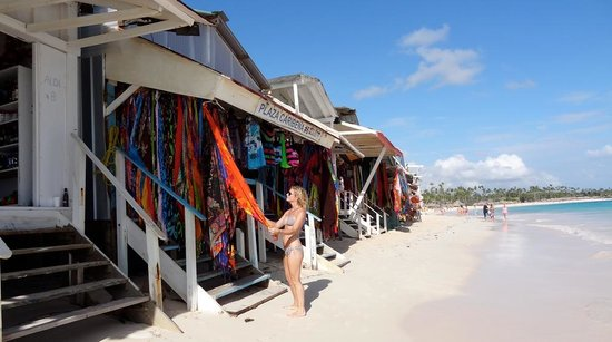 Iberostar Grand Hotel Bavaro: Locals set up shops along the beach