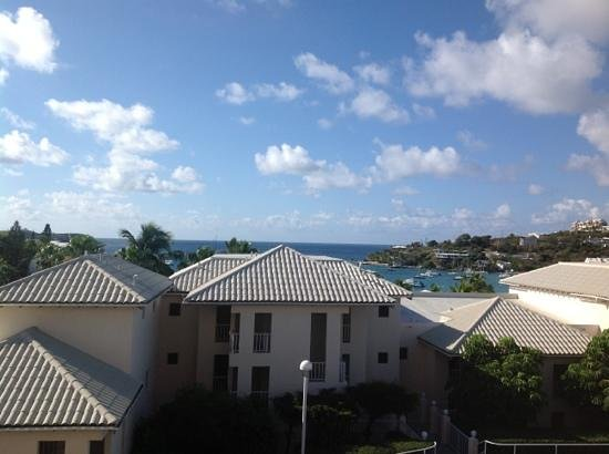 Elysian Beach Resort : view of Cowpet Bay from W150
